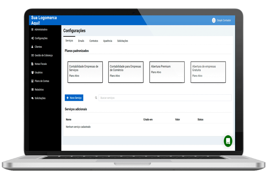 Plataforma para escritório contábil